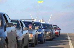На границе с Польшей образовались огромные автомобильные очереди