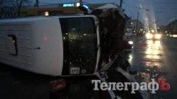 ДТП в Кременчуге: «скорая» столкнулась с маршруткой