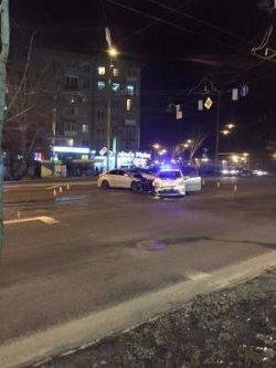 Киев: полицейские попали в «крутое» ДТП
