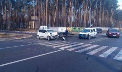Под Киевом вдребезги разбились две иномарки