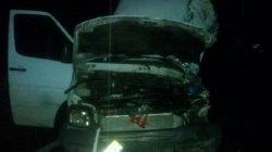 На Закарпатье микроавтобус с туристами попал в аварию