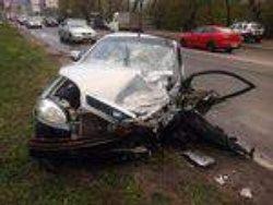 Серьезное ДТП в Киеве: столкнулись две иномарки