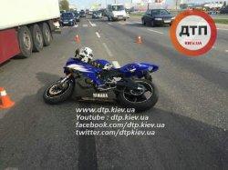 В Киеве водитель Daewoo сбил мотоциклиста