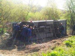 На Хмельнитчине автобус «потерял» колесо: пострадали 17 человек