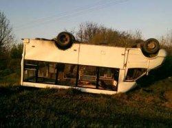 ДТП на Полтавщине: вверх дном перевернулась маршрутка с пассажирами