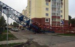 Падение строительного крана на Черкащине: новые подробности
