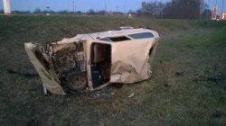 ДТП на Львовщине: иномарка перевернулась вместе с пассажирами