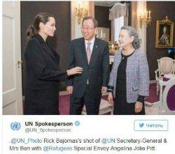 Анджелина Джоли встретилась с генсеком ООН