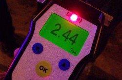 В столице пьяный водитель решил сбежать от полиции