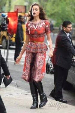 Ирина Шейк против Кейт Миддлтон: знаменитости покрасовались в одинаковых платьях