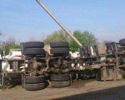 На Николаевщине перевернулась многотонная бетономешалка: есть жертвы