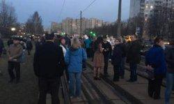 Митингующие перекрыли движение в Киеве