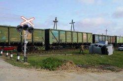 На Одесчине автомобиль на огромной скорости врезался в двигающийся локомотив