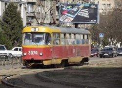 Харьков: трамвай с пассажирами