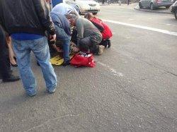 ДТП в Киеве: микроавтобус задавил беременную