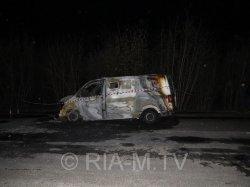 У Запоріжжі грабіжники підпалили автомобіль з інкасаторами