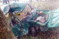 Жуткое ДТП на Хмельнитчине: автомобиль врезался в дерево