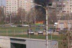 Водитель маршрутки спас пассажиров от пожара
