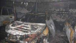 В Киеве на парковке сгорело 4 автомобиля