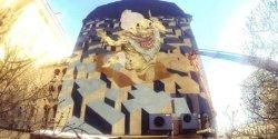 В Киеве нарисовали масштабный мурал