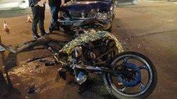 ДТП в Киеве: «Волга» сбила мотоциклиста, которые ехал на красный