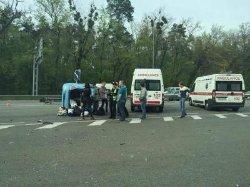 Серьезное ДТП под Киевом: столкнулись две иномарки