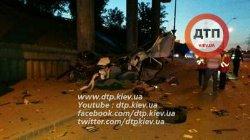 Авария в Киеве: иномарку разорвало на части
