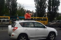 Беременная женщина шокировала своей выходкой киевлян