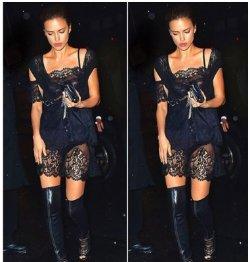 Ирина Шейк восхитила фигурой в откровенном платье
