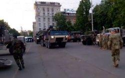 По центру Кишинева проехала военная техника США