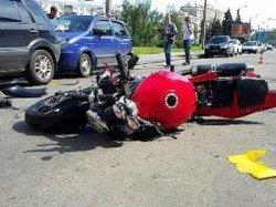 В центре Харькова мотоцикл сбил пешехода (ФОТО)