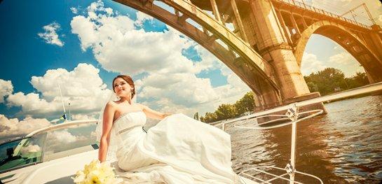 Свадьба на теплоходе в водах Днепра