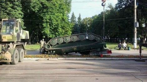 В Сумской области перевернулся зенитно-ракетный комплекс