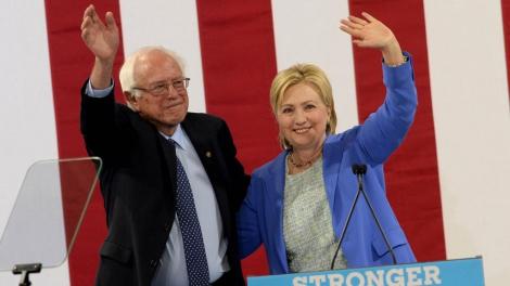 Сандерс поддержал кандидатуру Клинтон на выборах в США