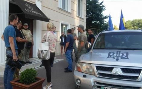 Активисты заблокировали в одесском отеле Geneva делегацию польских политиков
