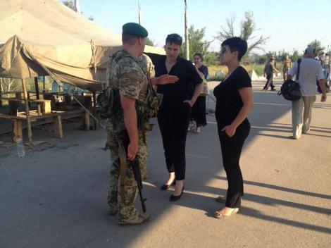 Пограничники подтвердили посещение Савченко пунктов пропуска на Луганщине