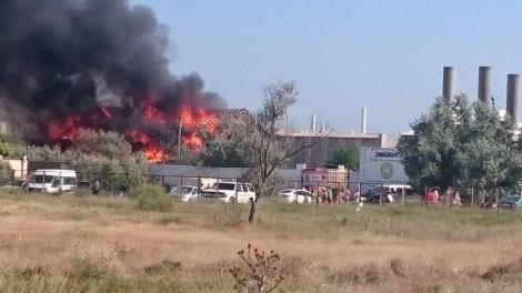 В Крыму горит инфраструктура фестиваля «КаZантип»