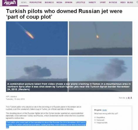 В Турции задержали двух пилотов, сбивших российский Су-24 в 2015 году