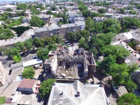 В Одессе обрушился памятник архитектуры  -  Масонский дом 1892 года