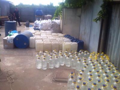 На Одесчине изъяли более 5 тонн спирта и фальсификата коньяка