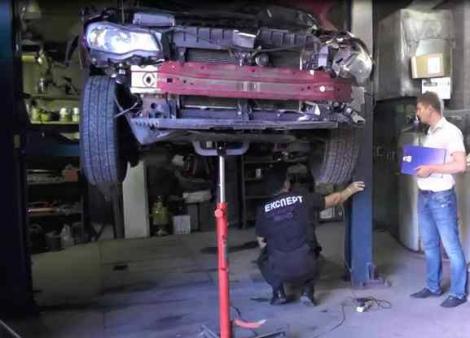 МВД показало фотографии с экспертизы взорванного авто, в котором погиб Шеремет