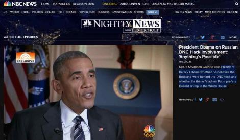 Россия взломала почту демократов и может повлиять на выборы в США  -  Обама