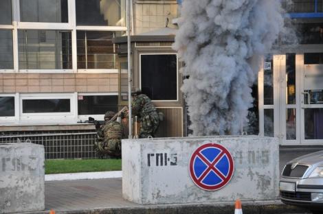 Обнародовано видео антитеррористических учений в центре Киева