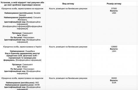 Саакашвили задекларировал комнату в Одессе, часы и зарплату 38 тыс. грн