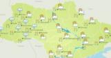 Сегодня в Украине солнечно, на западе небольшой дождь