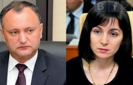 В воскресенье Молдова выбирает президента, во втором туре  -  Додон и Санду