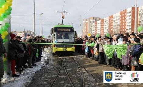 Во Львове запустили трамвайный маршрут на Сихов