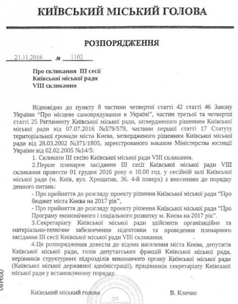 Киевсовет рассмотрит проект бюджета-2017 1 декабря