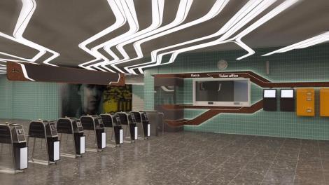 Появились фото, как будет выглядеть метро «Левобережная» после ремонта