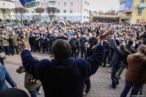 В белорусском городе Орше прошел «Марш нетунеядцев», задержаны журналисты